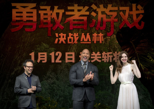 Dwayne Johnson Karen Gillan Bring Jumanji Welcome To The