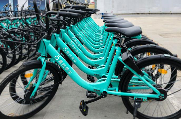 DiDi's newly-launched shared bikes Qingju [Photo: thepaper.cn]