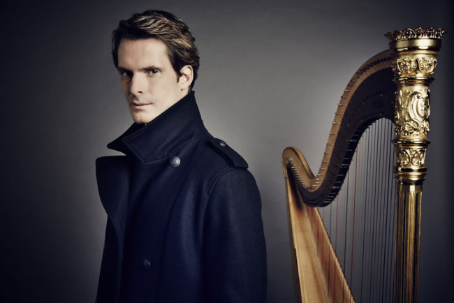 French harpist Xavier de Maistre will perform in April at the Beijing Concert Hall. [File Photo courtesy of the Beijing Concert Hall]