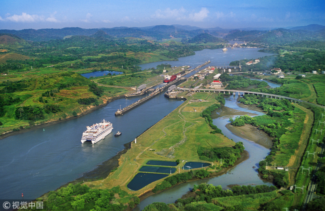 Aerial view of the Panama Canal. [Photo: VCG]