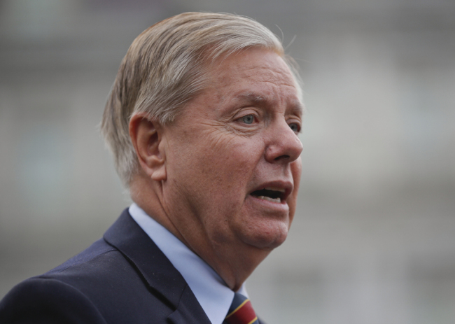Sen. Lindsey Graham, R-S.C., speaks to members of the media outside the West Wing of the White House in Washington, after his meeting with President Donald Trump, Sunday, Dec. 30, 2018. [Photo: AP/Pablo Martinez Monsivais]