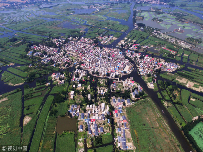 An aerial view of Xiongan New Area. [File photo: VCG]