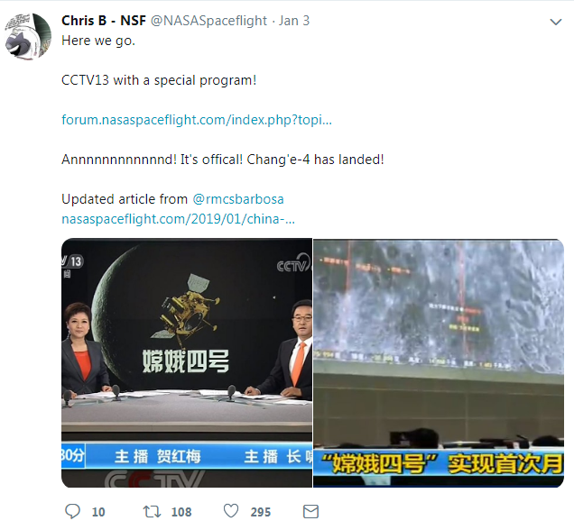 Tweeter post.[Screenshot: China Plus]