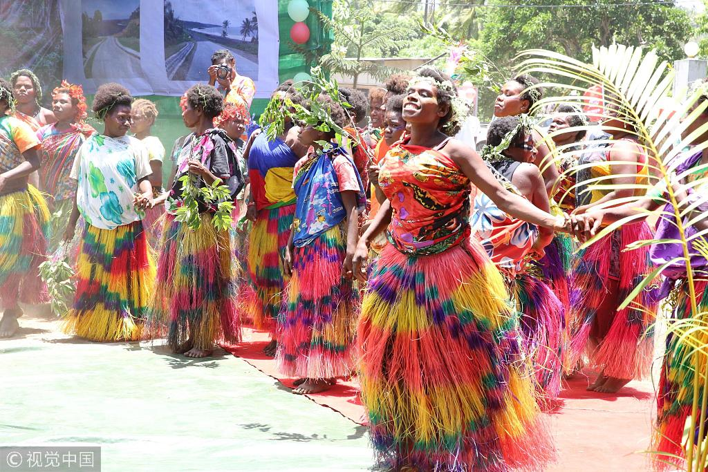 China's company completes first phase of Vanuatu road