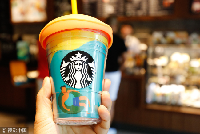 Starbucks is expanding its delivery service. [File photo: VCG]