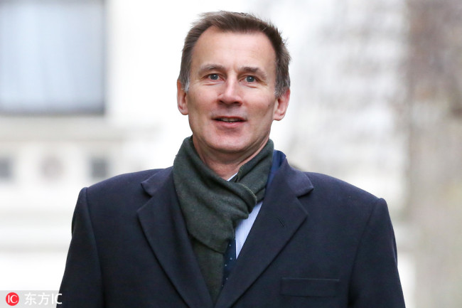 Secretary of State for Foreign and Commonwealth Affairs Jeremy Hunt arrives for a weekly Cabinet meeting at 10 Downing Street in central London on 05 February, 2019. [Photo: IC]