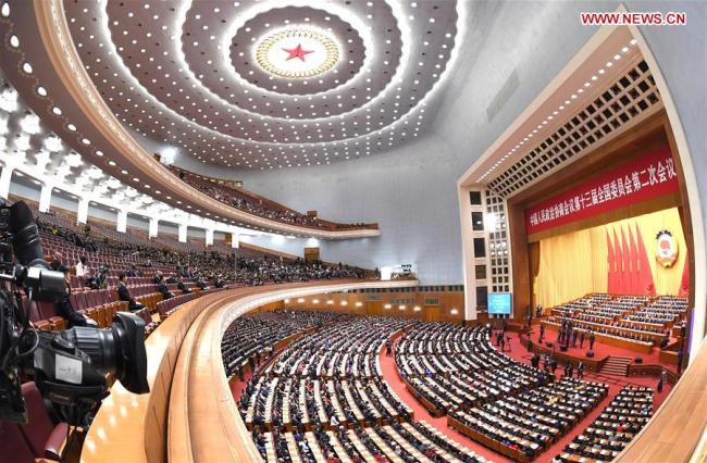 The closing meeting of the second session of the 13th National Committee of the Chinese People's Political Consultative Conference (CPPCC) is held at the Great Hall of the People in Beijing, capital of China, March 13, 2019. [Photo: Xinhua/Rao Aimin]
