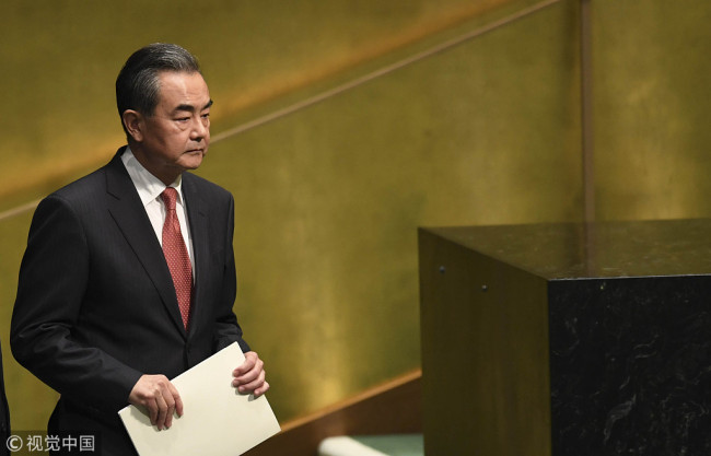 Chinese State Councilor and Foreign Minister Wang Yi [File Photo: VCG]