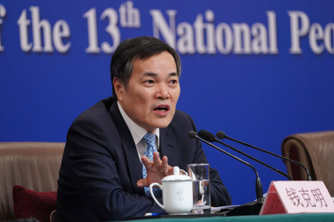 Qian Keming, the vice-minister of commerce. [Photo: China Plus]