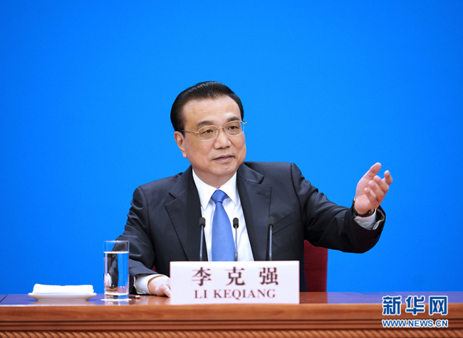Premier Li Keqiang holds a news conference to answer questions from domestic and foreign journalists at the Great Hall of the People in Beijing on March 15, 2019. [Photo: Xinhua]