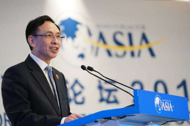 Yan Xiaoming, vice president of China Media Group, delivers a speech during the Boao Forum for Asia annual conference in Boao, Hainan Province. [Photo: China Plus]