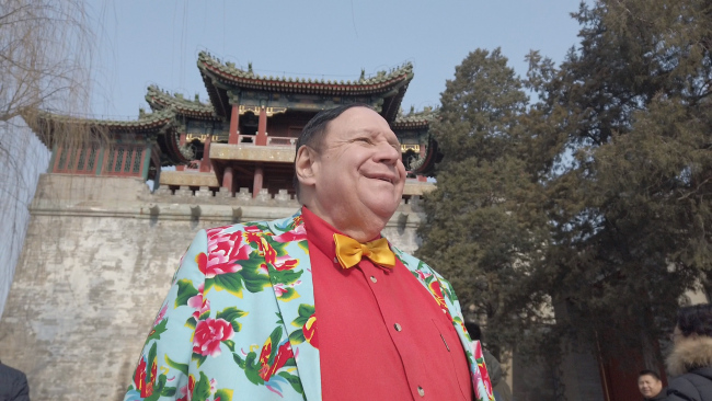 Harvey Dzodin, a senior research fellow at the Center for China and Globalization, takes an interview from China Plus. [Photo: China Plus]