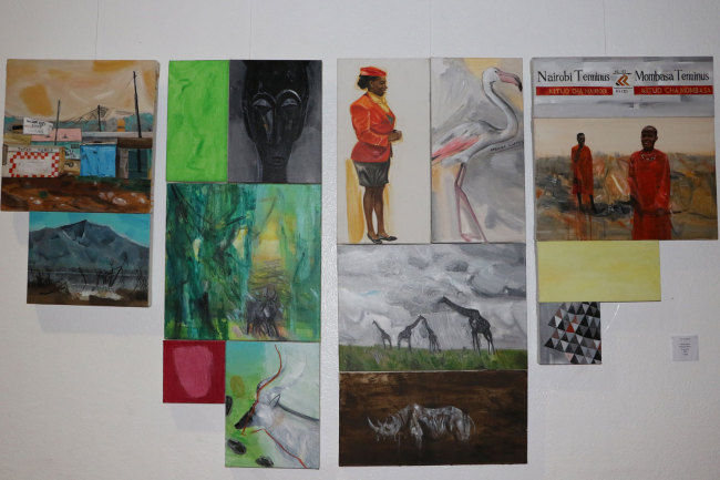 One of the art works displayed at the Second Belt and Road Afro-Sino Art Exhibition launched by the National Gallery of Zimbabwe on Monday, April 29, 2019. [Photo: China Plus/Gao Junya]