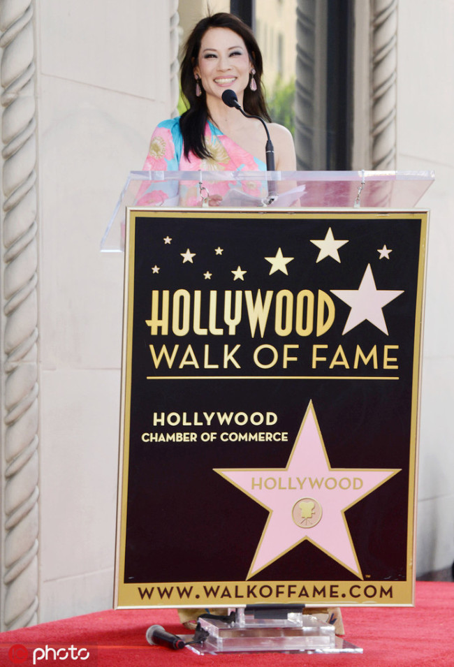 Lucy Liu honored with Star on the Hollywood Walk of Fame [Photo: IC]