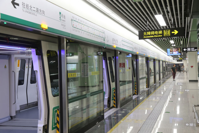 One of the stations that's part of subway line 5 in the city of Zhengzhou in Henan Province, seen here on Friday, May 17, 2019. [Photo: IC]