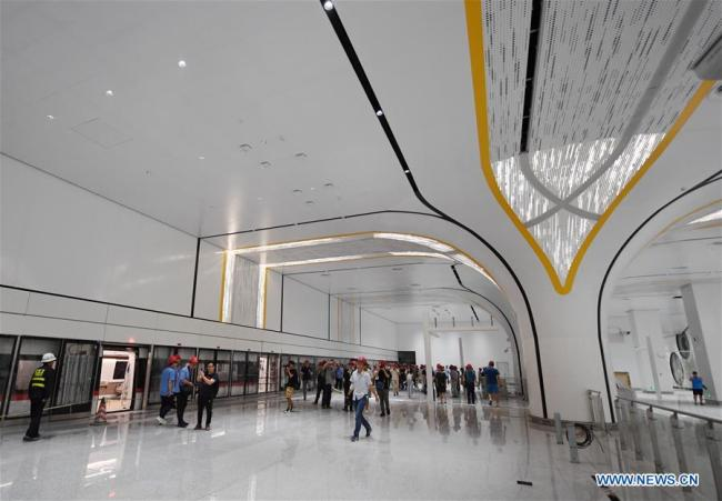 Photo taken on June 15, 2019 shows a station of a new airport subway line at Beijing Daxing International Airport in Beijing, capital of China.[Photo: Xinhua]