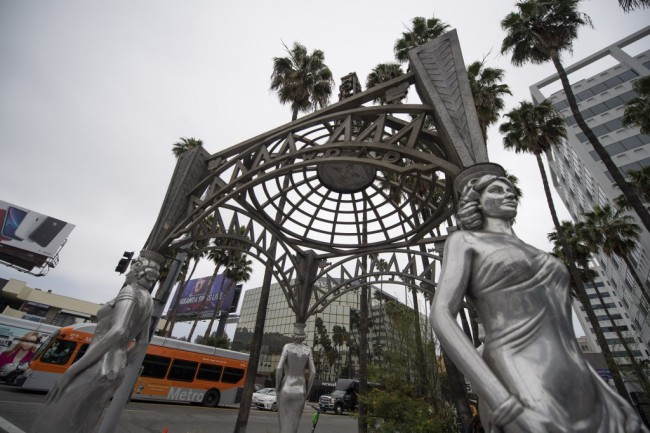 "The ""Ladies of Hollywood Gazebo"" is seen on the Hollywood Walk of Fame in Hollywood, California, June 18, 2019. [Photo: AFP]"