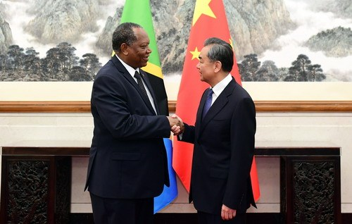 Chinese State Councilor and Foreign Minister Wang Yi meets with Tanzanian Foreign Minister Palamagamba Kabudi in Beijing, June 24, 2019. [Photo: fmprc.gov.cn]