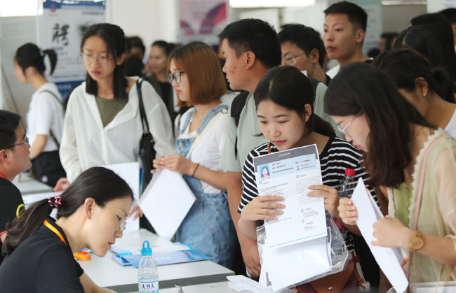 College graduates joins in local labor market on June 14th in Kunming, Yunnan. [Photo: VCG]