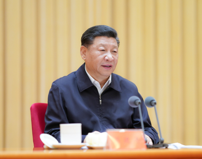 Xi Jinping, general secretary of the Communist Party of China (CPC) Central Committee, speaks at a meeting in Beijing on Tuesday, July 09, 2019. [Photo: Xinhua]