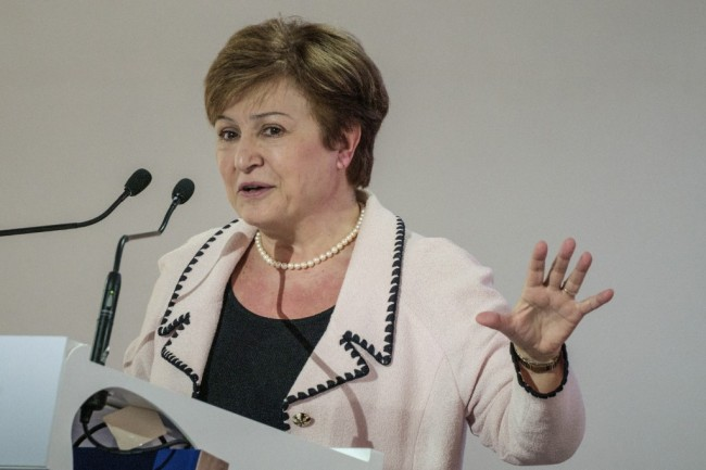 Chief executive officer of the World Bank Kristalina Georgieva speaks during the One Planet Summit at the UN headquaters in Nairobi, Kenya, March 14, 2019. [Photo: AFP/Yasuyoshi Chiba]