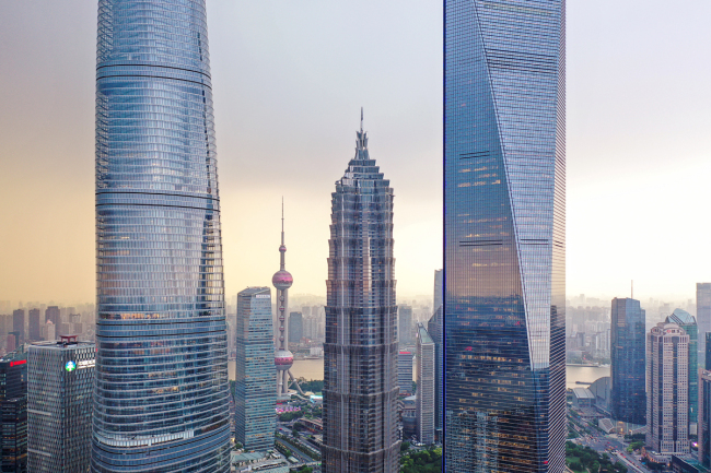 A view of skyscrapers in Shanghai. [Photo: IC]