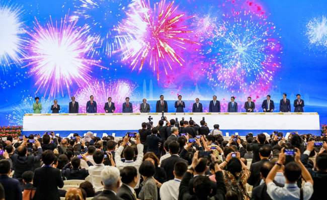 The 16th China-ASEAN Expo commences in Nanning, Guangxi Zhuang Autonomous Region on Saturday, September 21, 2019. [Photo: IC]