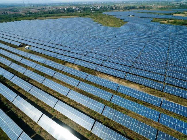 Solar panels are installed at a photovoltaic (PV) power plant in China. [File Photo: IC]