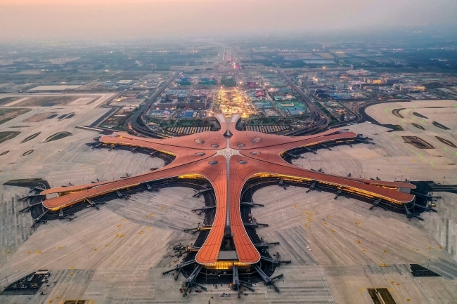 An aerial view of the Beijing Daxing International Airport on May 29, 2019. [File Photo: VCG]