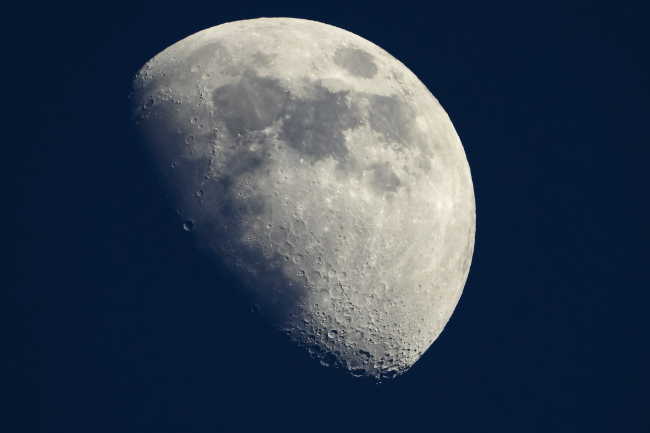 This file photo taken on May 13, 2019 shows a view of the moon in Cannes, southern France. [Photo: LAURENT EMMANUEL/AFP]