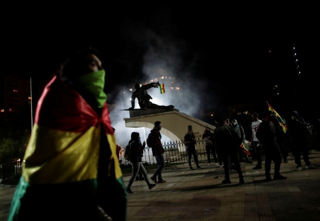 Demonstrators take part in a protest in La Paz, Bolivia, October 22, 2019. [Photo: VCG]