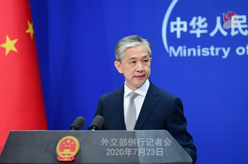 Chinese Foreign Ministry spokesperson Wang Wenbin speaks during a regular press conference in Beijing, on July 23, 2020. [File photo: gov.cn]