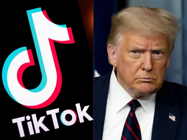 This combination of picture shows the logo of the social media video sharing app Tiktok and U.S. President Donald Trump. [Photo: AFP]